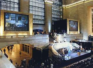 Space Planning/ Set Design /Build for Grand Central Terminal Re-dedication ceremony.