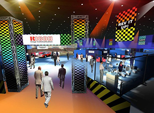 Set design concept for Ricoh Pavilion - Industry Event