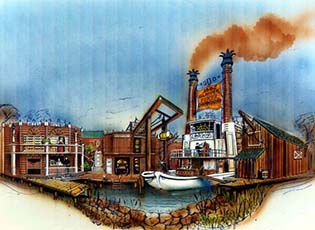 Riverboat designed for 6 Flags Wild West show